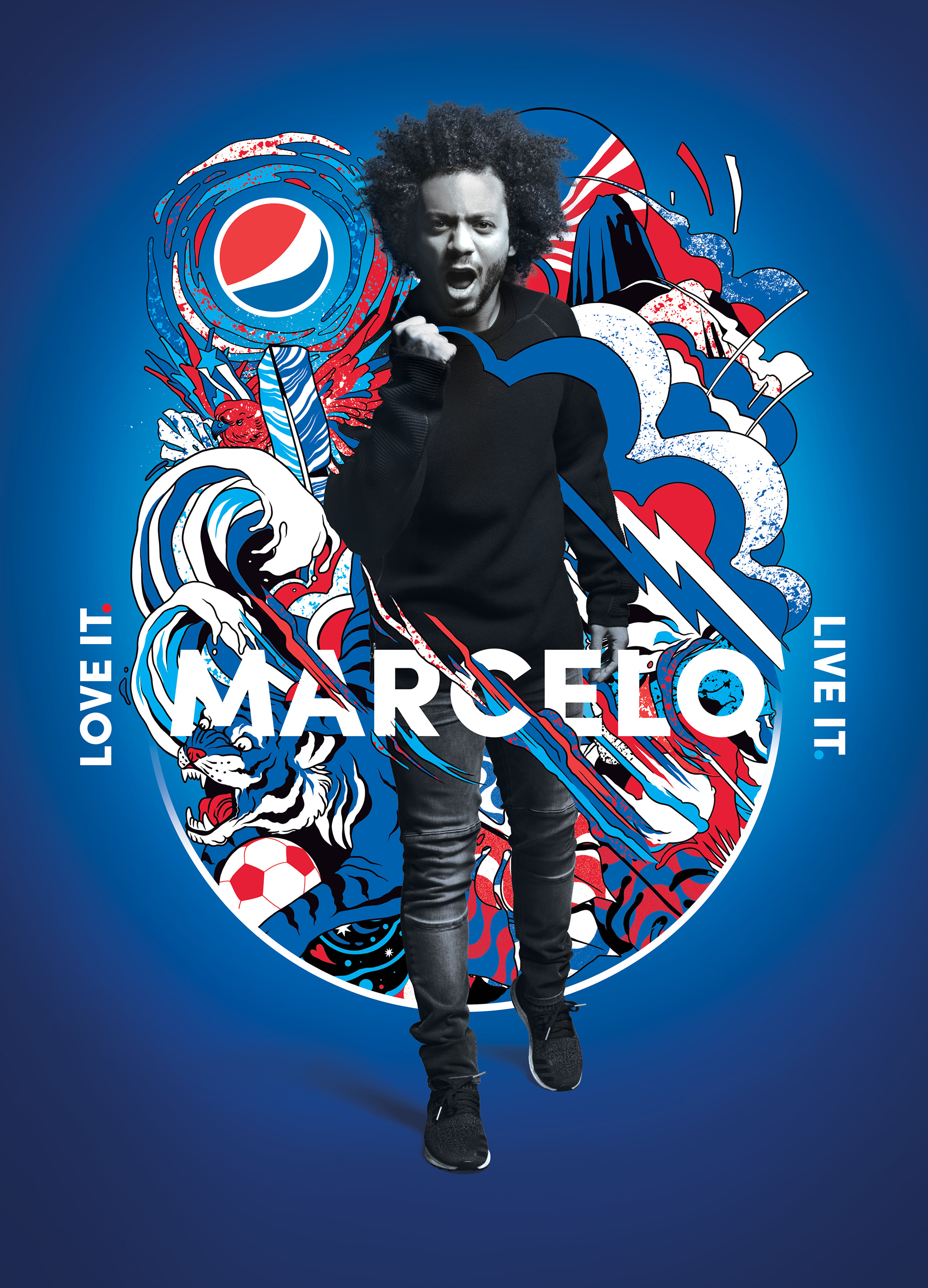 把世界画ᡂ蓝色:2018全球广告片主题是热爱足球ࠊ积极参